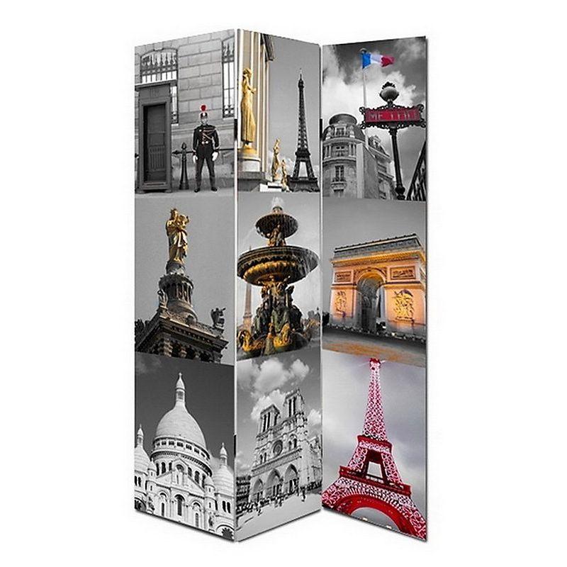 PARAVENT THEME PARIS 180 X 120 Cm